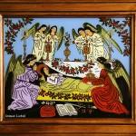 Adormirea Maicii Domnului - Icoane pe sticla Sapanta - Ioana Lutai - foto Cristina Nichitus Roncea