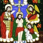 Botezul Domnului Iisus Hristos - Icoane pe sticla Sapanta - Ioana Lutai - foto Cristina Nichitus Roncea