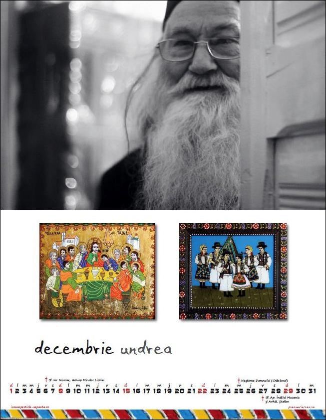 Calendar Icoane Sapanta 2013 Parintele Justin Parvu Foto Cristina Nichitus Roncea Pictura Ioana Lutai