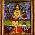 Iisus vita-de-vie - Icoane pe sticla Sapanta - Ioana Lutai - foto Cristina Nichitus Roncea