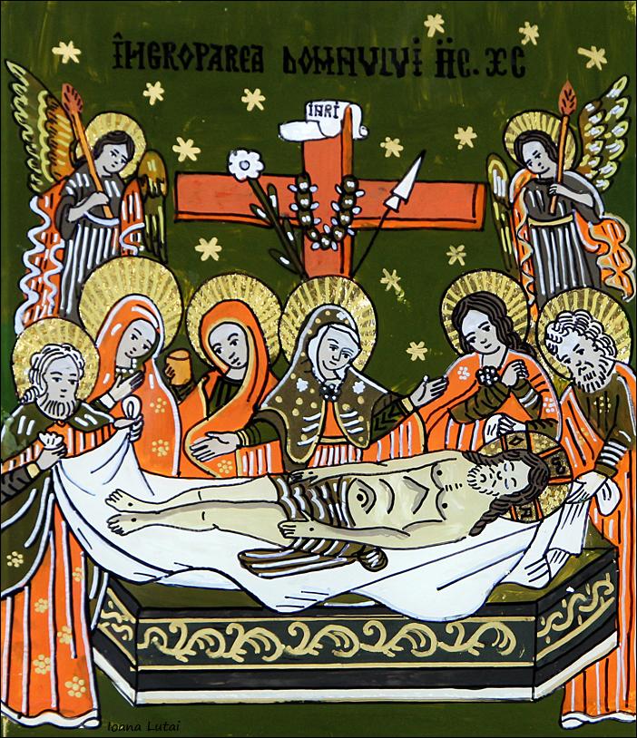Ingroparea Domnului Iisus Hristos - Icoane pe sticla Sapanta - Ioana Lutai - foto Cristina Nichitus Roncea