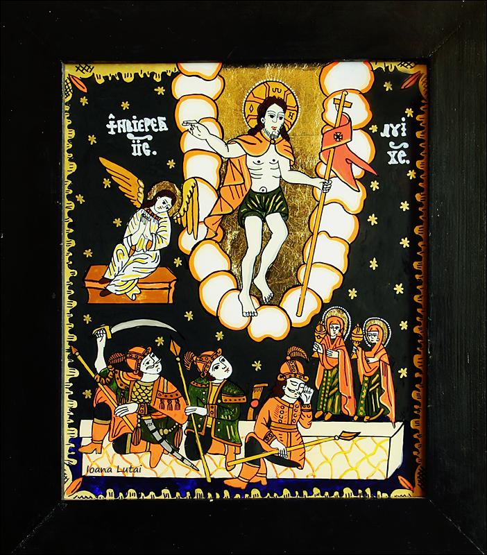 Invierea Domnului Iisus Hristos - Icoane pe sticla Sapanta - Ioana Lutai - foto Cristina Nichitus Roncea