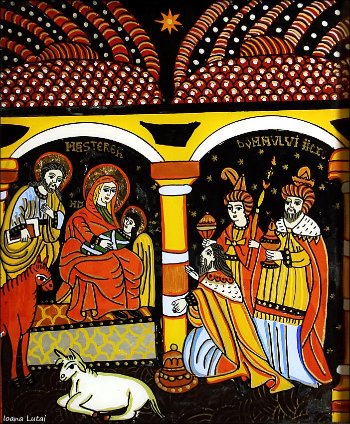 Nasterea Domnului Iisus Hristos - Craciunul - Icoane pe sticla Sapanta - Ioana Lutai - foto Cristina Nichitus Roncea