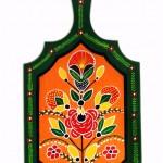 Pictura decorativa pe lemn 02 - Ioana Lutai - Icoanepesticla-Sapanta Ro
