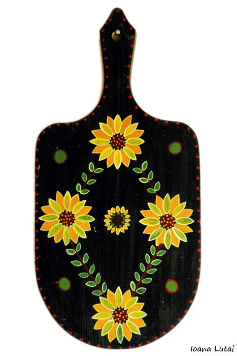 Pictura decorativa pe lemn 04 - Ioana Lutai - Icoanepesticla-Sapanta Ro