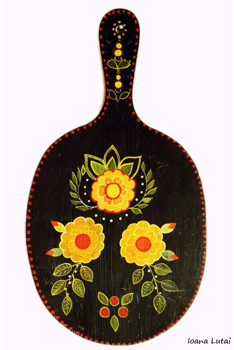 Pictura decorativa pe lemn 05 - Ioana Lutai - Icoanepesticla-Sapanta Ro