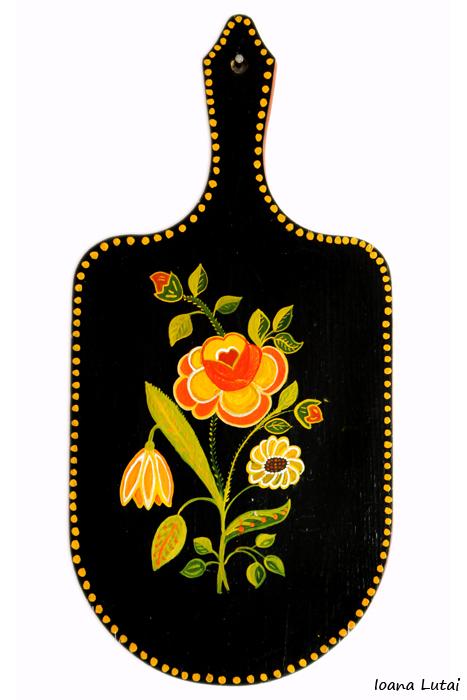 Pictura decorativa pe lemn 06 - Ioana Lutai - Icoanepesticla-Sapanta Ro