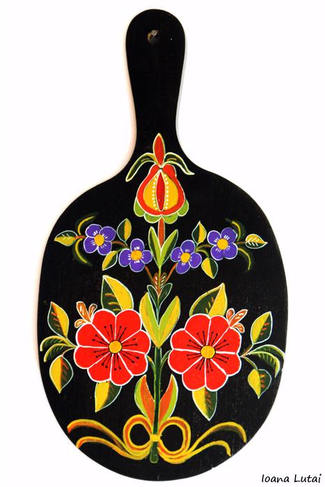 Pictura decorativa pe lemn 07 - Ioana Lutai - Icoanepesticla-Sapanta Ro