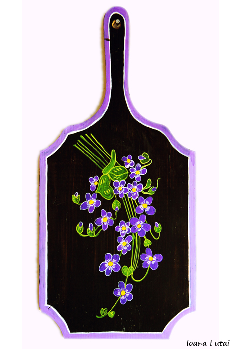 Pictura decorativa pe lemn 08 - Ioana Lutai - Icoanepesticla-Sapanta Ro