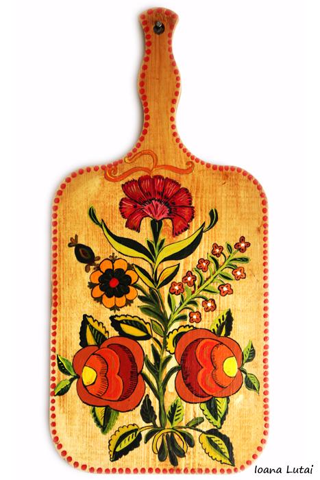 Pictura decorativa pe lemn 10 - Ioana Lutai - Icoanepesticla-Sapanta Ro
