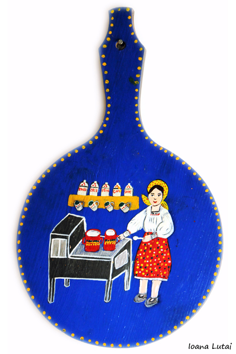 Pictura decorativa pe lemn 11 - Ioana Lutai - Icoanepesticla-Sapanta Ro