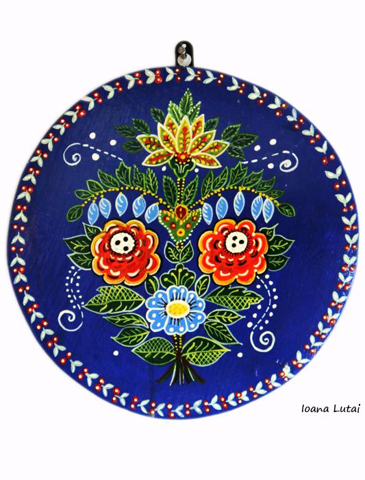 Pictura decorativa pe lemn 13 - Ioana Lutai - Icoanepesticla-Sapanta Ro