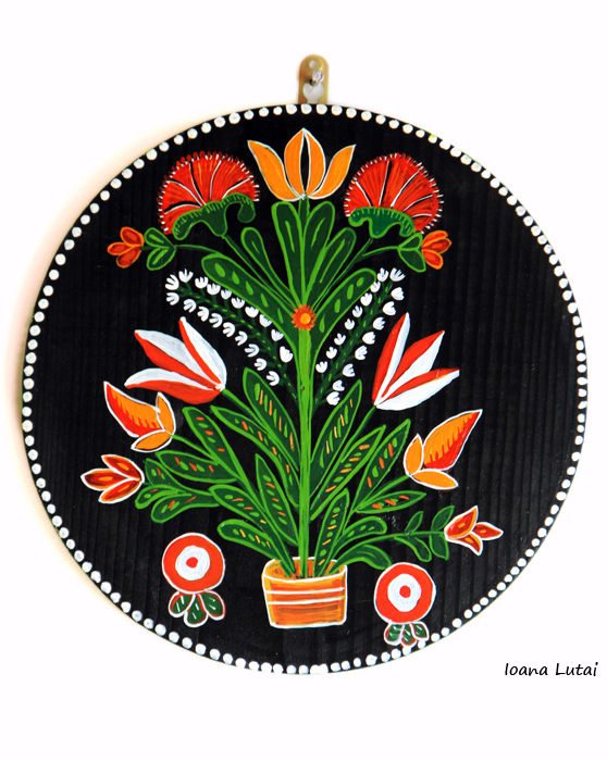 Pictura decorativa pe lemn 14 - Ioana Lutai - Icoanepesticla-Sapanta Ro