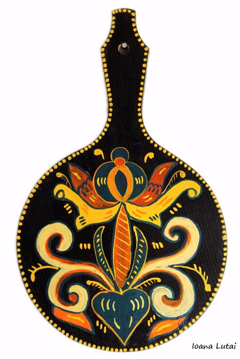 Pictura decorativa pe lemn 15 - Ioana Lutai - Icoanepesticla-Sapanta Ro