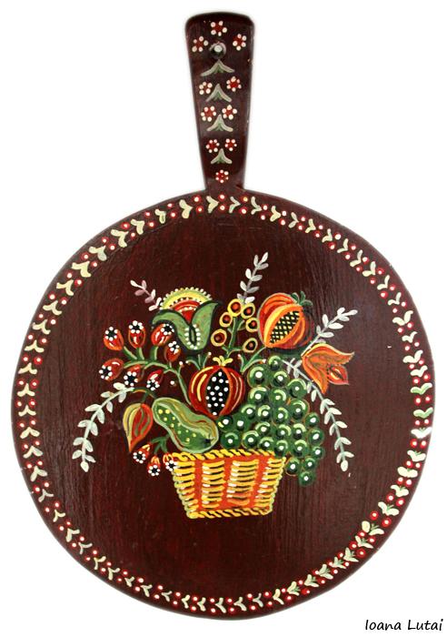 Pictura decorativa pe lemn 16 - Ioana Lutai - Icoanepesticla-Sapanta Ro