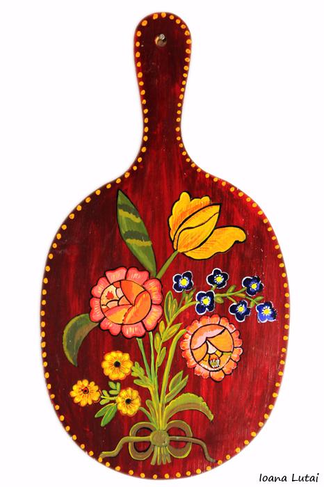 Pictura decorativa pe lemn 18 - Ioana Lutai - Icoanepesticla-Sapanta Ro
