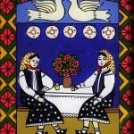 Pictura naiva 11 -  Ioana Lutai - Icoane pe sticla Sapanta - foto Cristina Nichitus Roncea
