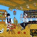Pictura naiva 17 -  Ioana Lutai - Icoane pe sticla Sapanta - foto Cristina Nichitus Roncea