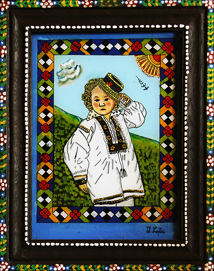 Pictura naiva 19 -  Ioana Lutai - Icoane pe sticla Sapanta - foto Cristina Nichitus Roncea