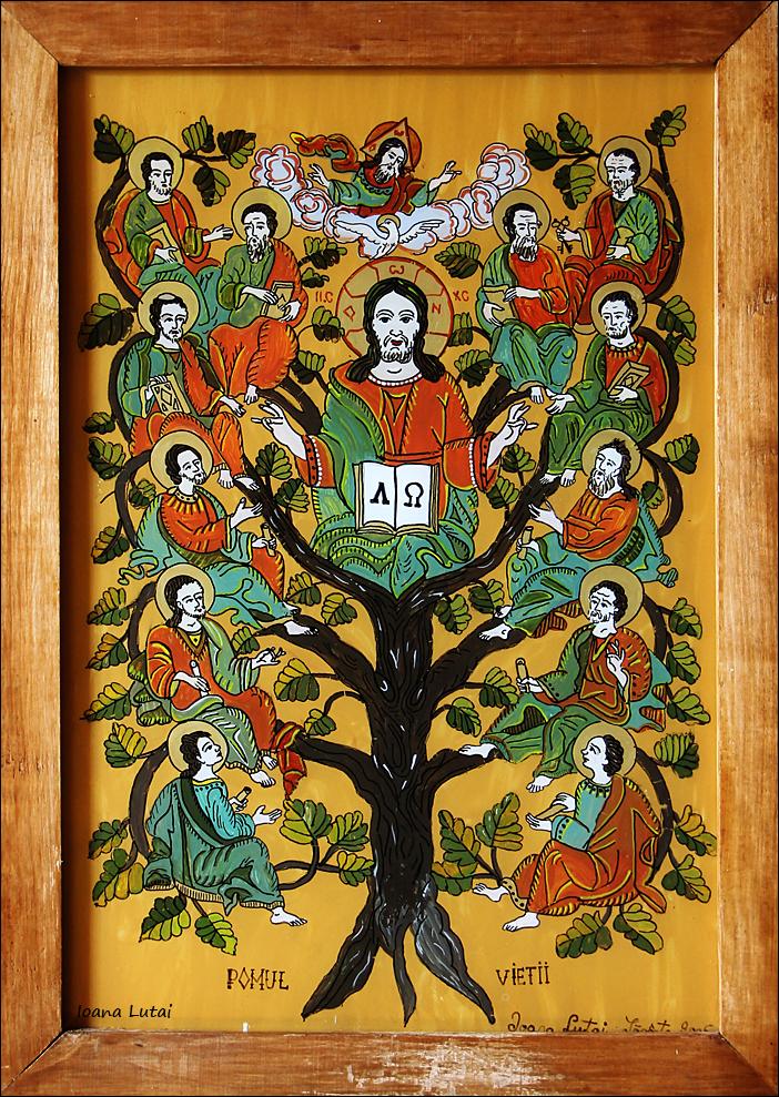 Pomul Vietii - Icoane pe sticla Sapanta - Ioana Lutai - foto Cristina Nichitus Roncea