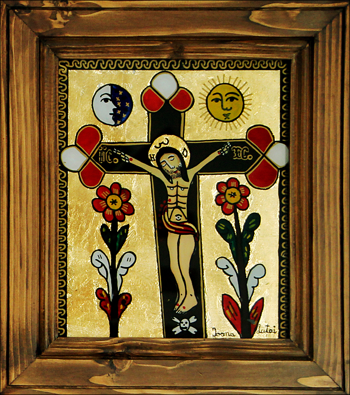 Rastignirea Domnului Iisus Hristos - Icoane pe sticla Sapanta - Ioana Lutai - foto Cristina Nichitus Roncea