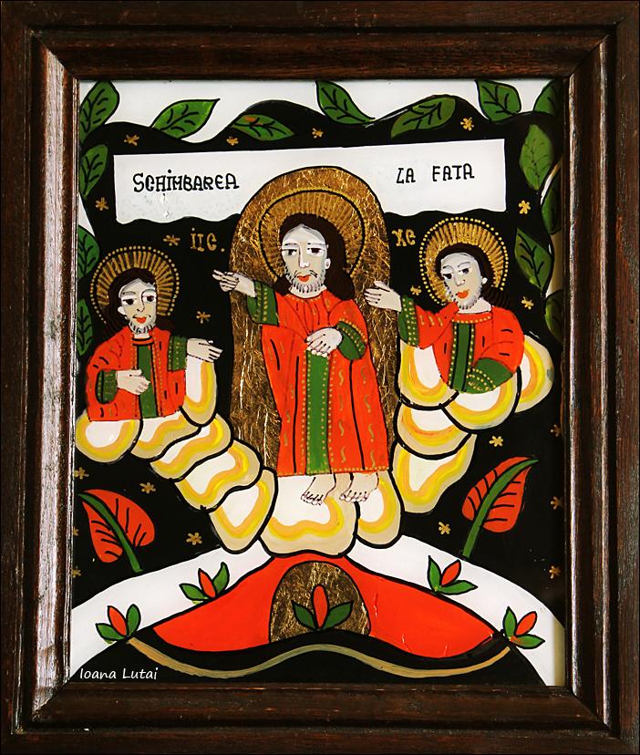 Schimbarea la Fata a Domnului - Icoane pe sticla Sapanta - Ioana Lutai - foto Cristina Nichitus Roncea
