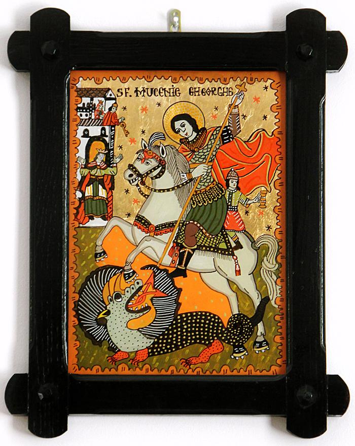 Sfantul Gheorghe - Icoane pe sticla Sapanta - Ioana Lutai - foto Cristina Nichitus Roncea