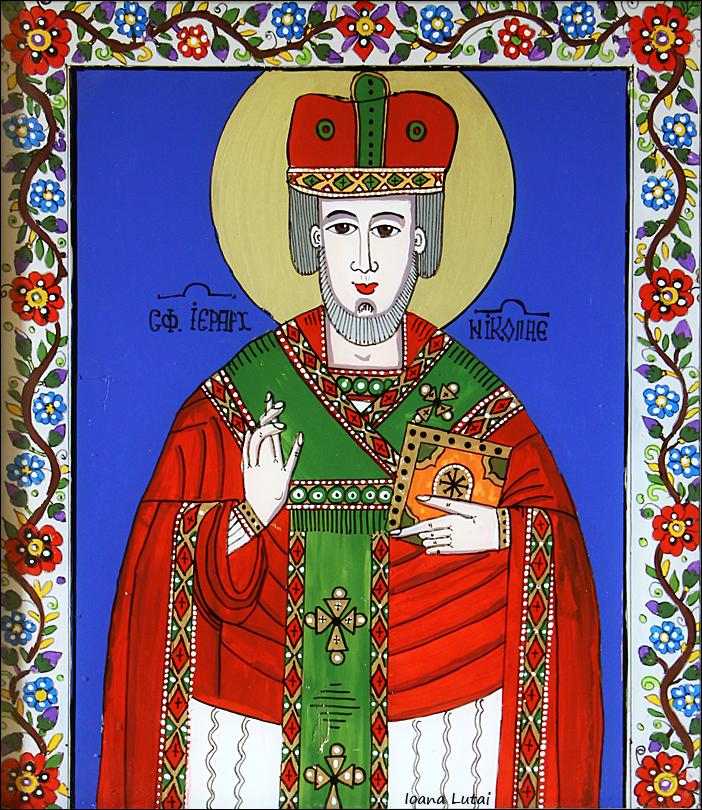 Sfantul Nicolae - Icoane pe sticla Sapanta - Ioana Lutai - foto Cristina Nichitus Roncea