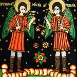 Sfintii Mihail si Gavril - Icoane pe sticla Sapanta - Ioana Lutai - foto Cristina Nichitus Roncea
