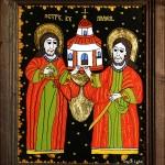 Sfintii Petru si Pavel - Icoane pe sticla Sapanta - Ioana Lutai - foto Cristina Nichitus Roncea